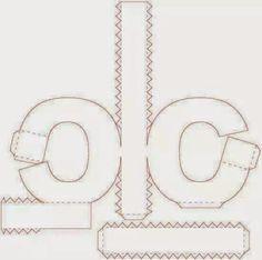 Eu Amo Artesanato: Letras em 3D com molde