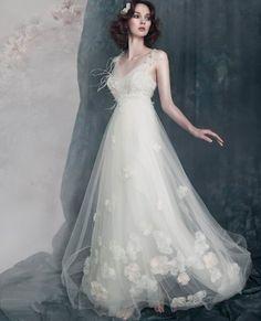 Beautiful bridal and pretty wedding dress