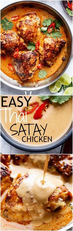 Easy Thai Satay Chicken – With a special ingredient that makes this satay something spectacular in minutes! Easy Thai Satay Chicken – With a special ingredient that makes this satay something spectacular in minutes! Cooking Recipes, Healthy Recipes, Healthy Food, Eating Healthy, Healthy Breakfasts, Healthy Thai Recipes, Clean Eating, Healthy Mummy, Cooking Time