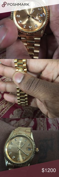 Real deal Rolex date just 18k solid gold Jewelry