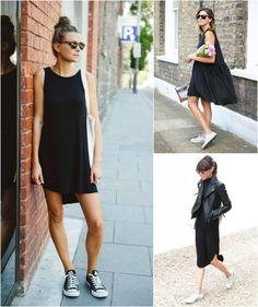 Como usar - Vestido preto e acessórios