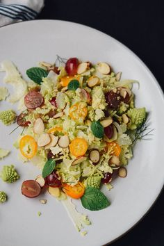 Ditch the lettuce and make this romanesco, fennel and kumquat salad instead. Thinly shaved romanesco makes a great base for this winter salad!