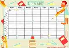 Free printable school timetable and school scrabpooking embellishment - ausdruckbarer Stundenplan - freebies | MeinLilaPark