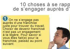 10 choses à se rappeler avant de s'engager auprès d'une franchise   FranchiseDirecte.fr #franchise #entreprise