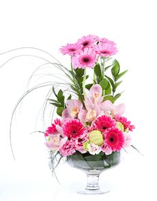 Singapore flowers flower vase yellow gerbera daisies gift ideas easter flowers flower vase pink daisy and orchid mix negle Choice Image