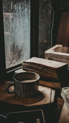 coffee wallpaper Cup of coffee and books wallpaper.
