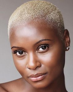 50 Amazing Short Hairstyles for Black Women in 2020 Short Bleached Hair, Natural Hair Short Cuts, Short Natural Haircuts, New Short Hairstyles, Natural Hair Styles For Black Women, Black Women Hairstyles, Short Hair Cuts, Short Hair Styles, Natural Big Chop