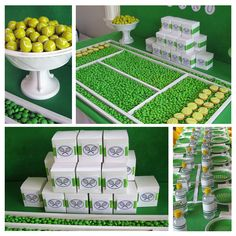 If you are thinking of having a tennis-themed party, why not go all the way with a dessert table filled up with goodies and treats created. Tennis Party, Le Tennis, Sports Party, Sports Gifts, Tennis Cake, Tennis Gear, Sport Tennis, Tennis Decorations, Tennis Crafts