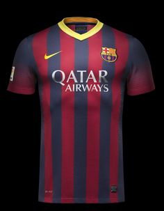 5745f0c4b3 Barcelona FC 2013-14 Away   Home Team Kit by Nike