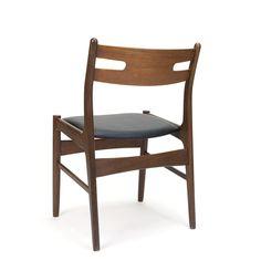 Teakhouten vintage Deense eettafel stoel jaren zestig - Pool Houses, Dining Chairs, Retro, Interior, Furniture, Home Decor, Decoration Home, Houses With Pools, Indoor