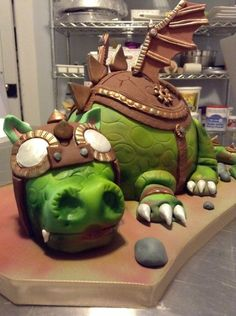 Steampunk Dragon Cake