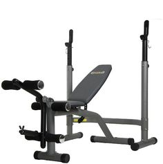 Body Champ Olympic Weight Bench with Leg Developer, Gray/Silver Olympic Weights, Weight Benches, Training Equipment, Champs, Olympics, Muscle, Workout, Legs, Gym