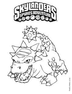 free printable skylander giants coloring pages for kids - Skylanders Coloring Pages