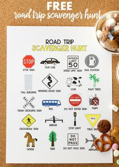 Road Trip Scavenger Hunt - Free printable on { lilluna.com }
