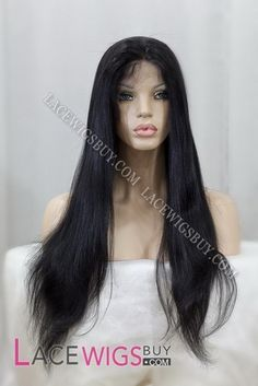 "22"" Silky Straight #1 Full Lace Wigs 100% Indian Remy Human Hair"