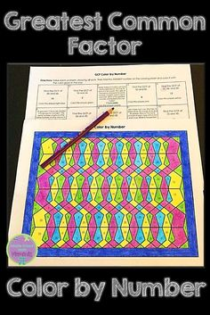 Use this greatest common factor color by number activity to help your students master this math concept! 8th Grade Math Problems, Algebra Worksheets, Maze Worksheet, 4th Grade Multiplication, Math Classroom, Math Math, Maths, Greatest Common Factors, Math Crafts