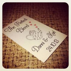 Perfect Blend Tea Bag Wedding Favour x 50  by PrettyLaneBoutique, £40.00