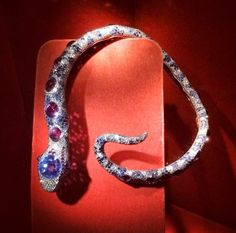 On display at the 2013 'Jewels by JAR' exhibition at the Met, Jacqueline Delubac's jeweled snake necklace originally sold at Christie's in 1998 for $210,591, nearly 5x its high estimate. Photo courtesy of Visual Therapy