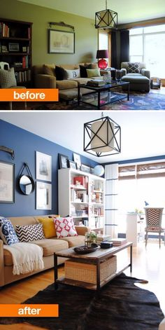 17 Awesome Before And After Living Room Makeovers