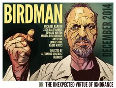 Birdman Movie Poster Keaton Illustration