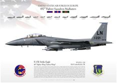 F-15E 492nd Fighter Squadron Madhatters