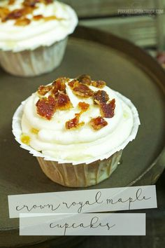 Crown Royal Maple Cupcakes -  You will want to eat them all!