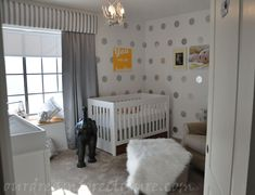 My fav baby room... After Liam's... Love the simplicity of it, colors and whites and silver touches.... What if next baby is a little girl??