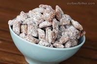Puppy Chow or Muddy Buddies.  (for people not dogs) Great recipe for a Great snack!  Kids favorite!  Addicting, one of those sweet with a touch of salt types that drives you crazy!