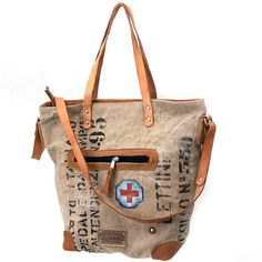 Italian Military Duffle Bag Tote Bag // Recycled by peace4youBAGS