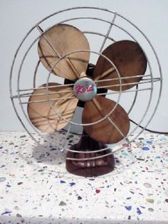 I discovered this Industrial Vintage Brass Blade Fan by Kord on Keep. View it now.