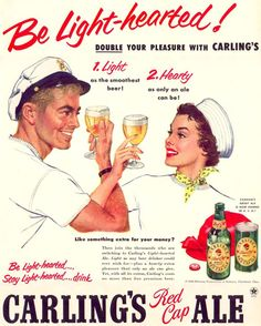 Carlings Red Cap Ale Beer 1952 - www.MadMenArt.com | Through this graphic art…