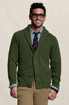 Green cardigan | Styles for men | Pinterest | Man style
