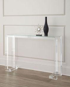 Clearview Console at Neiman Marcus. 48 x 12 x32 1689.00 plus 230 shipping