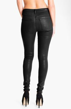 Citizens of Humanity 'Rocket' Skinny Leatherette Jeans (Black) available at #Nordstrom