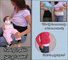 The belly hugger  looks like you're wearing a layered t-shirt, and helps keep your belly covered even in the most challenging situations!