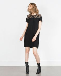 COMBINED GUIPURE DRESS-View all-Dresses-WOMAN-SALE | ZARA United States