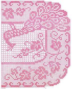 "Picture of ""Peacock"" Filet Buffet Scarf Free Pattern Filet Crochet, Crochet Doilies, Crochet Lace, Crochet Hooks, Sewing Patterns, Crochet Patterns, Old Dolls, Sewing Crafts, Free Pattern"