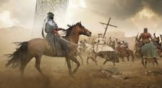 """A Batalha de Montgisard povoa a imaginação de escritores e artistas. [Detalhe da capa do livro """"Kingdom: Book Two of the Saladin Trilogy"""", de Jack Hight]"""