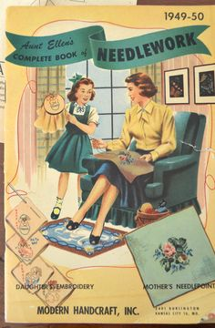 Aunt Ellen's Complete Book of Needlework. The Copycat Collector: COLLECTION #232: Vintage Sewing Ephemera