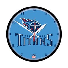 Tennessee Titans Round Wall Clock