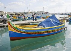 This image of a traditional Maltese fishing boat was captured in Marsaxlokk