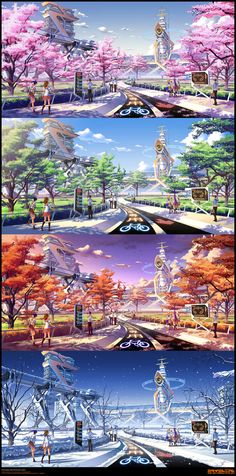 Mirai Millennium School BG by Pinakes on DeviantArt