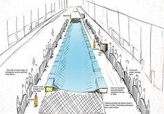 luke jerram plans to turn a city street into an urban water slide