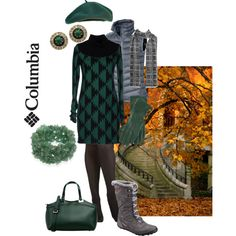 """""""Down over a sweater dress"""" by maria-kuroshchepova on Polyvore"""