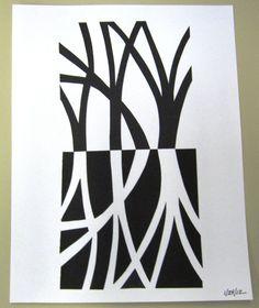 "My Notan exercise, ""Trees"""
