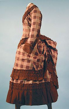 Little girl's bustle dress, c. 1870