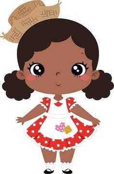 Cartoon People, Beautiful Black Girl, Arte Pop, School Colors, Cute Girls, Magnolias, Cute Pictures, Chibi, Hello Kitty