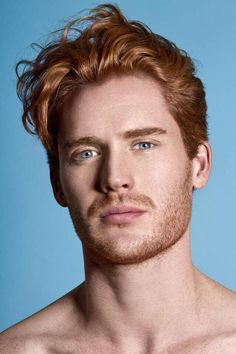 "The 13 Hottest Male Redheads Ever A new NYC art exhibit called RED HOT aims to ""rebrand the ginger male stereotype,\"" a cause that's been tragically under-championed until this point. Do enjoy these 13 naked ginger men in an artistic way, that is. Hot Ginger Men, Ginger Boy, Ginger Hair, Ginger Beard, Fotografie Portraits, Red Hair Men, Male Hair, Red Hair Blue Eyes Boy, Men With Blue Eyes"