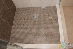 Обустройство ванной комнаты, пол в душевой
