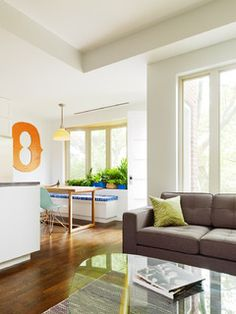 Living Room And Kitchen - Williamsburg Renovation